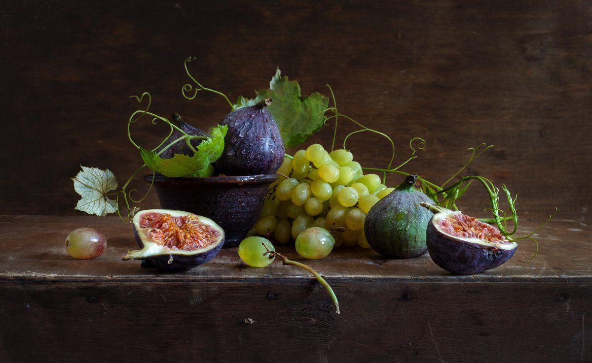 натюрморт, инжир, фрукты, виноград, still life? evgeny kornienko? евгений корниенко, Евгений Корниенко
