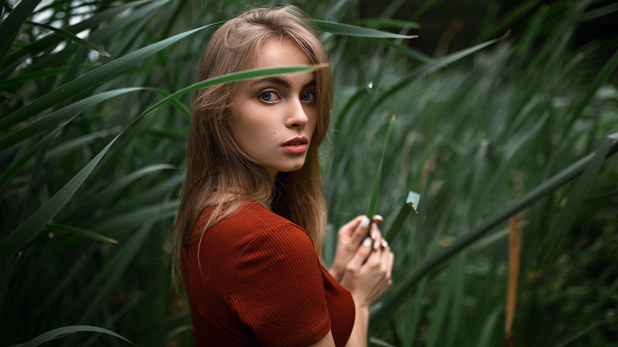 girl, beauty, green, Александр Куренной