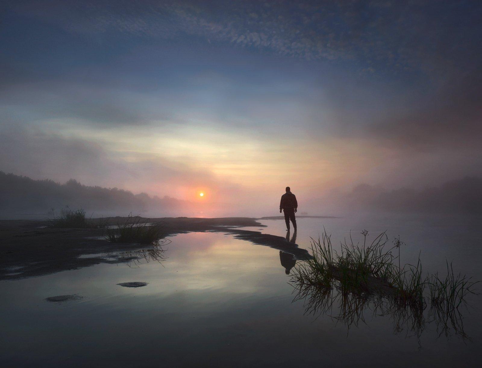 #пейзаж #мистика #фантазия #утро #природа #небо, Морозов Юрий