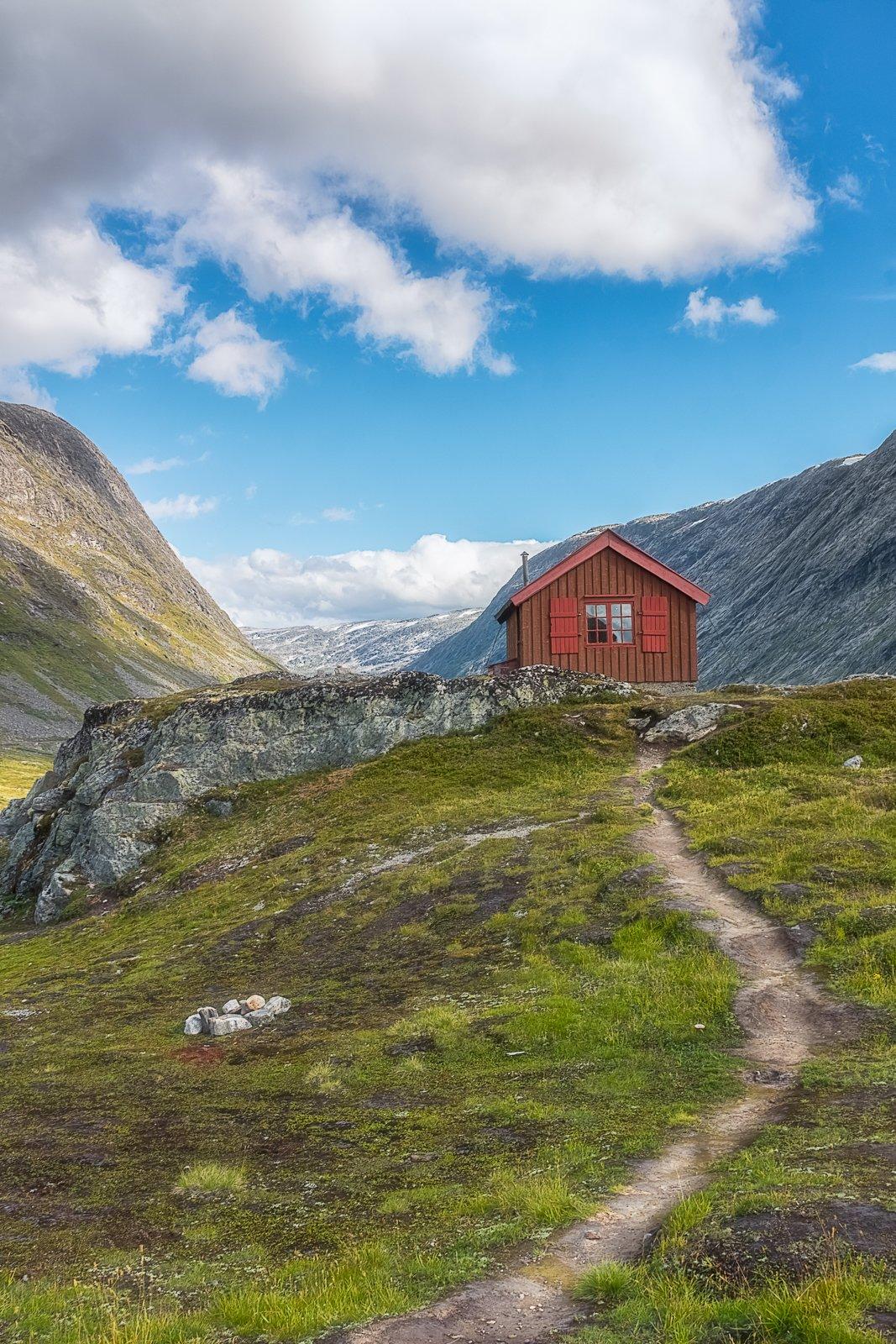 Норвегия, пейзаж, природа, дом, горы, Лариса Николаевна Дука
