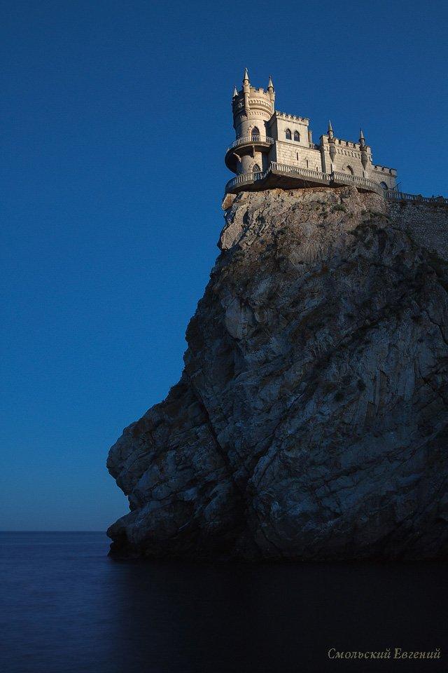 крым, ласточкино гнездо, замок, гаспра, закат, море, скала, вечер, утес, Смольский Евгений