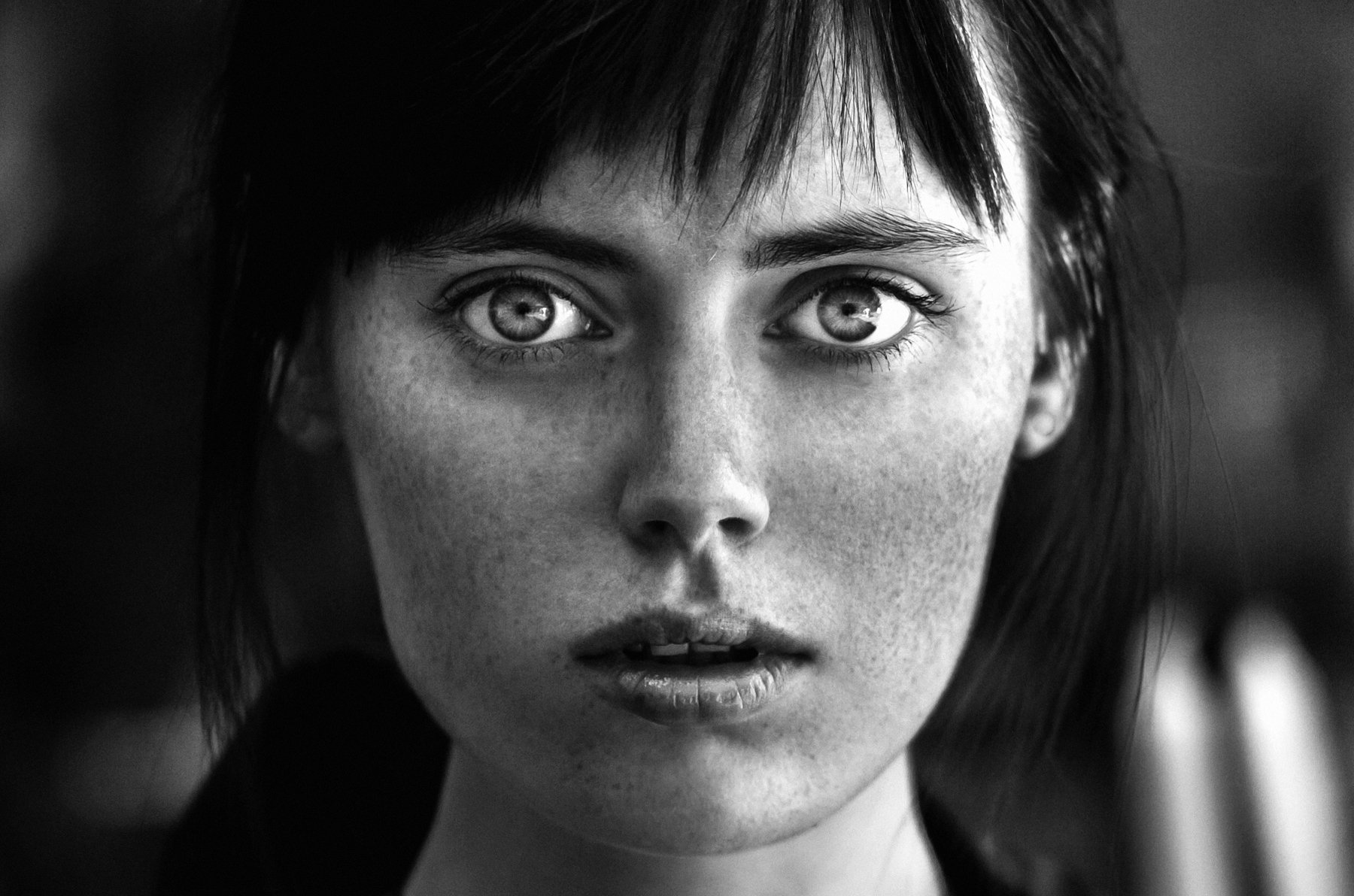 girl, portrait, bw, woman, emotions, eyes, face, photo, moscow, people, light, Андрей Лободин