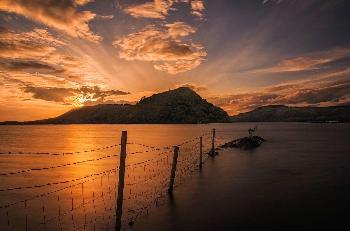 ireland, sunset, lake, Sławomir Majchrzak