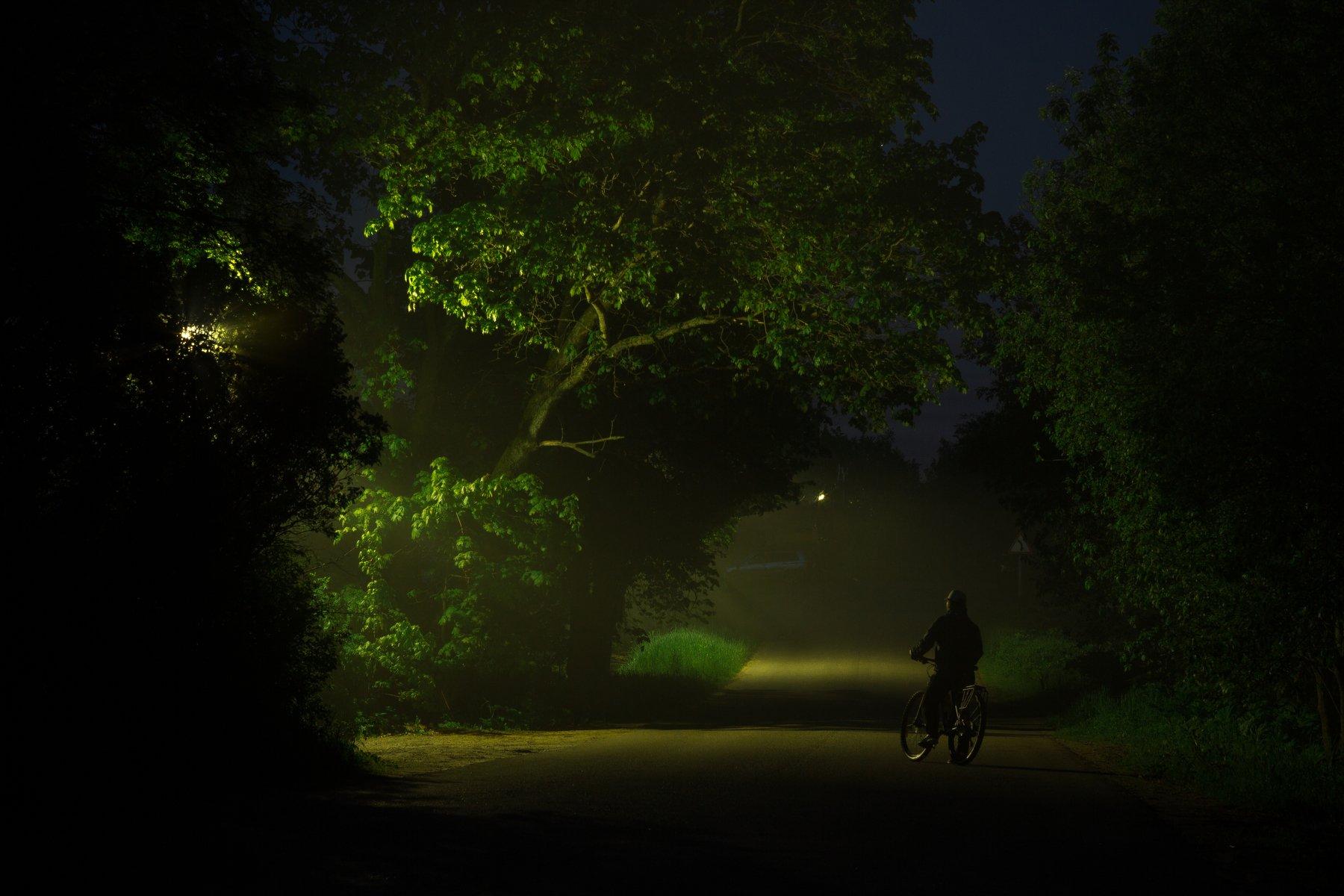 ночь туман россия велосипед, Евгений Озеров