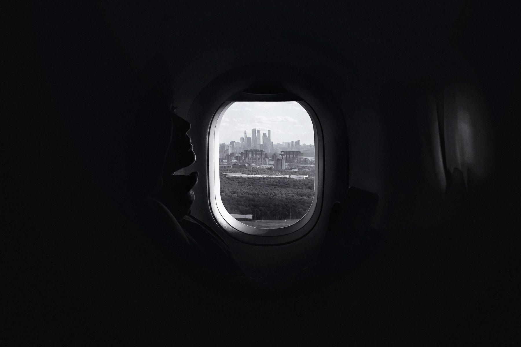 москва, самолет, аэропорт, чб, черно-белое, Алексей Ермаков