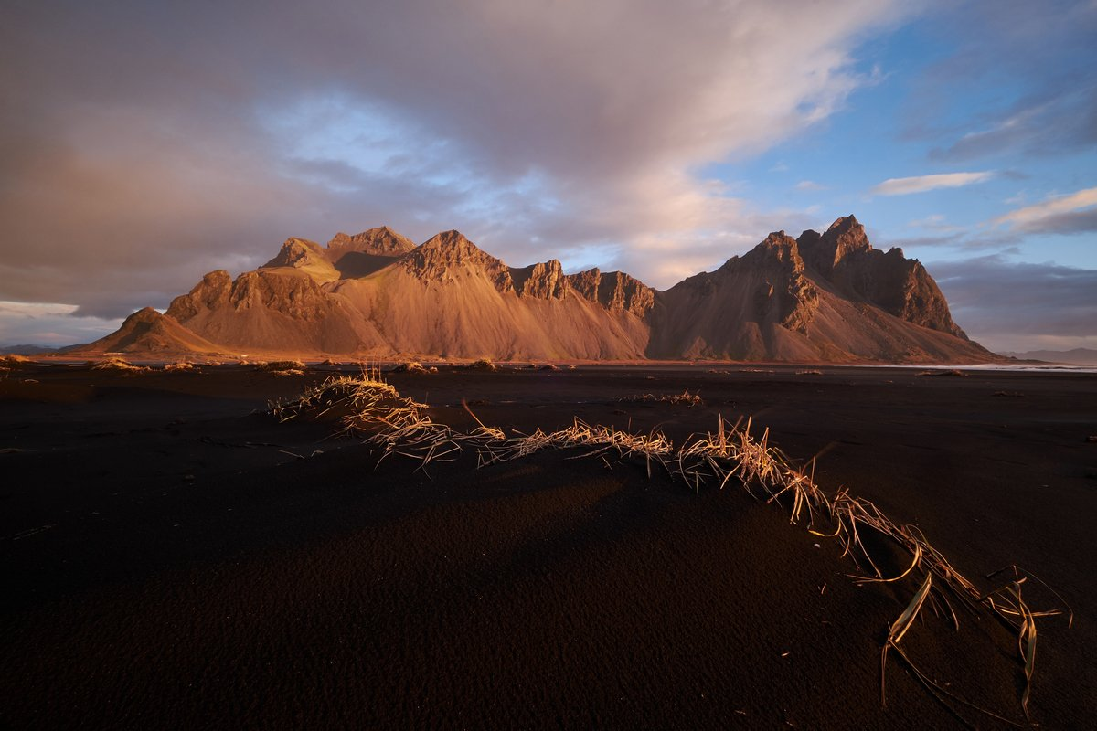 iceland,frozen,glacier,lake,winter,bird,forms,stokksnes,mountain,sunset,sunrise, Kobran