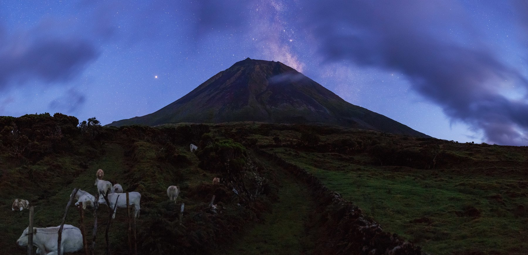 Azores, volcano Pico, Milky way, Vitalis Vasylius