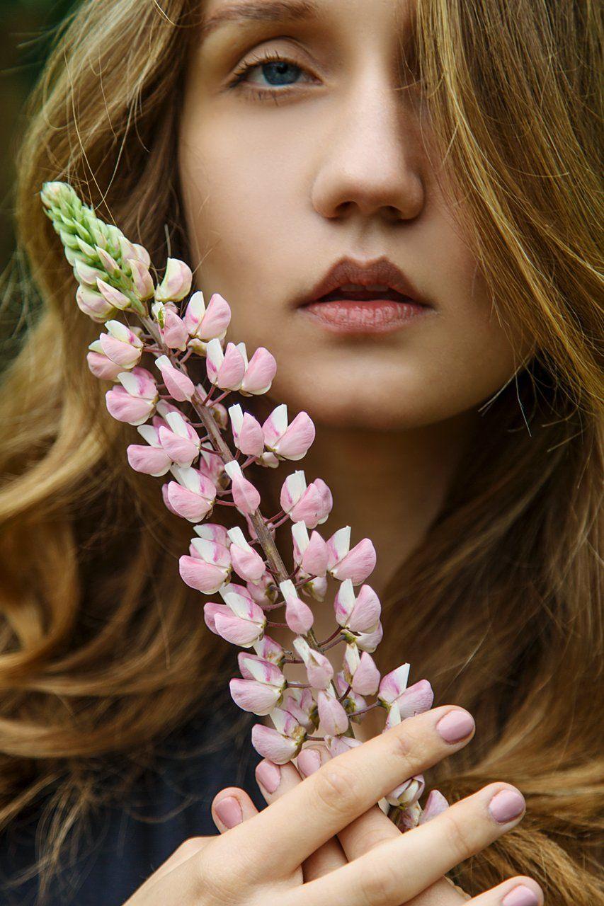 портрет девушка цветы лето, Marie Dashkova