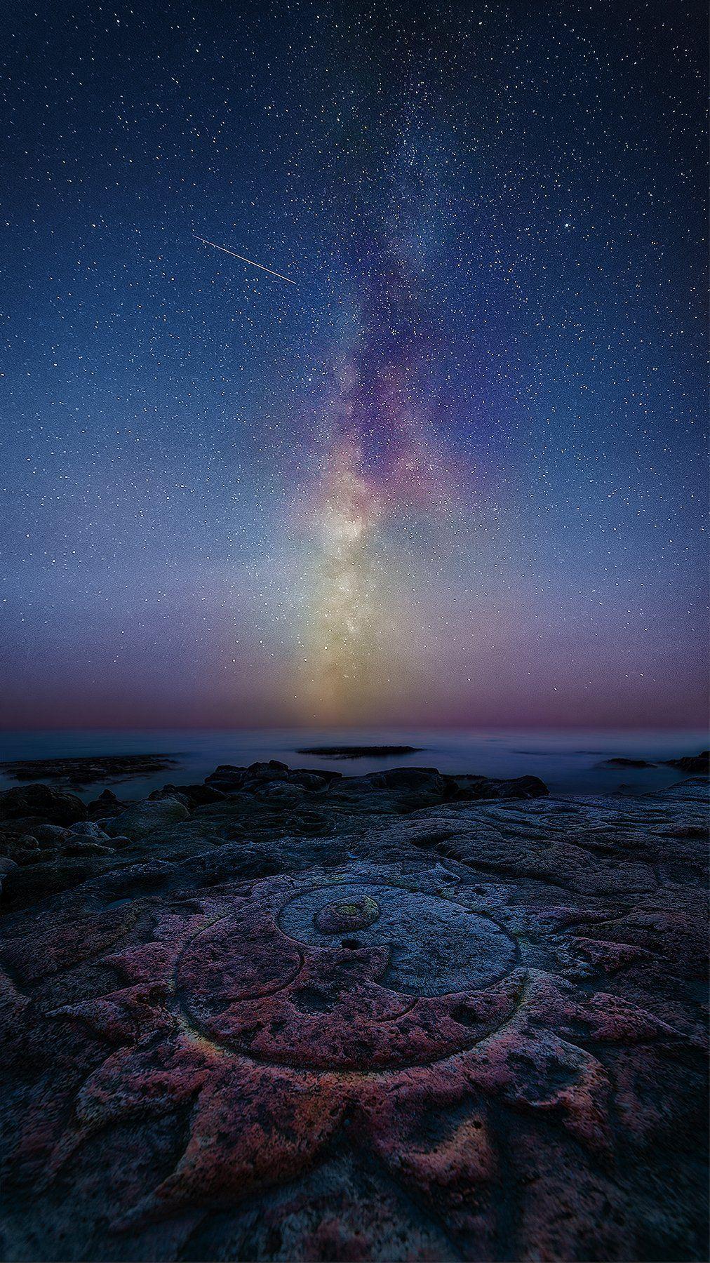 море, звезды, крым, ночь, севастополь, млечный путь, Макс