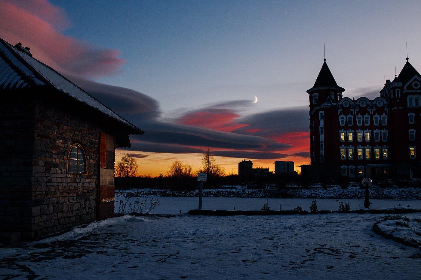 россия, урал, златоуст, вечер, небо, закат, Евгений Толкачёв