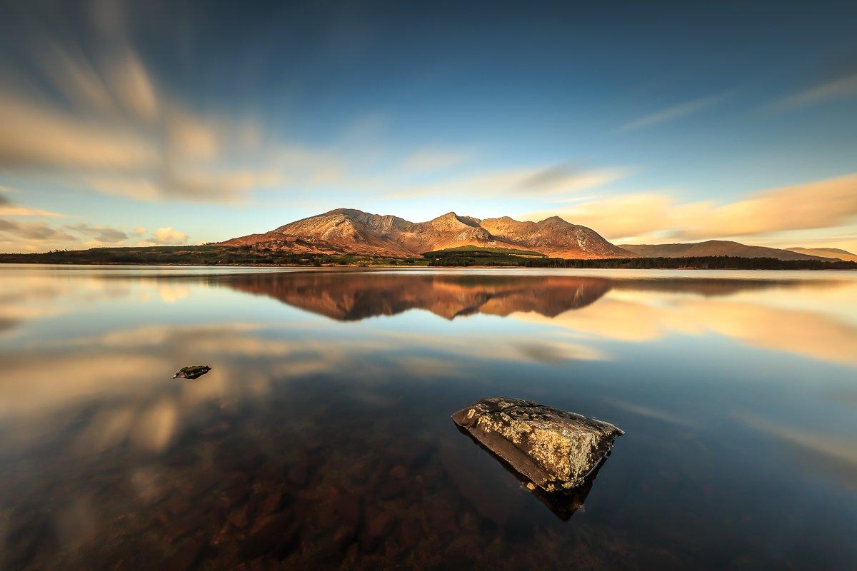 longexposure, Ireland, Galway, sunrise, sunset, clouds, lake, Connemara, Ryszard Lomnicki