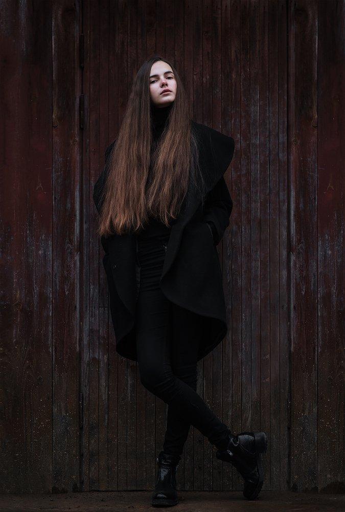 настя, портрет, осень, Aleksandr Kljuchenkow
