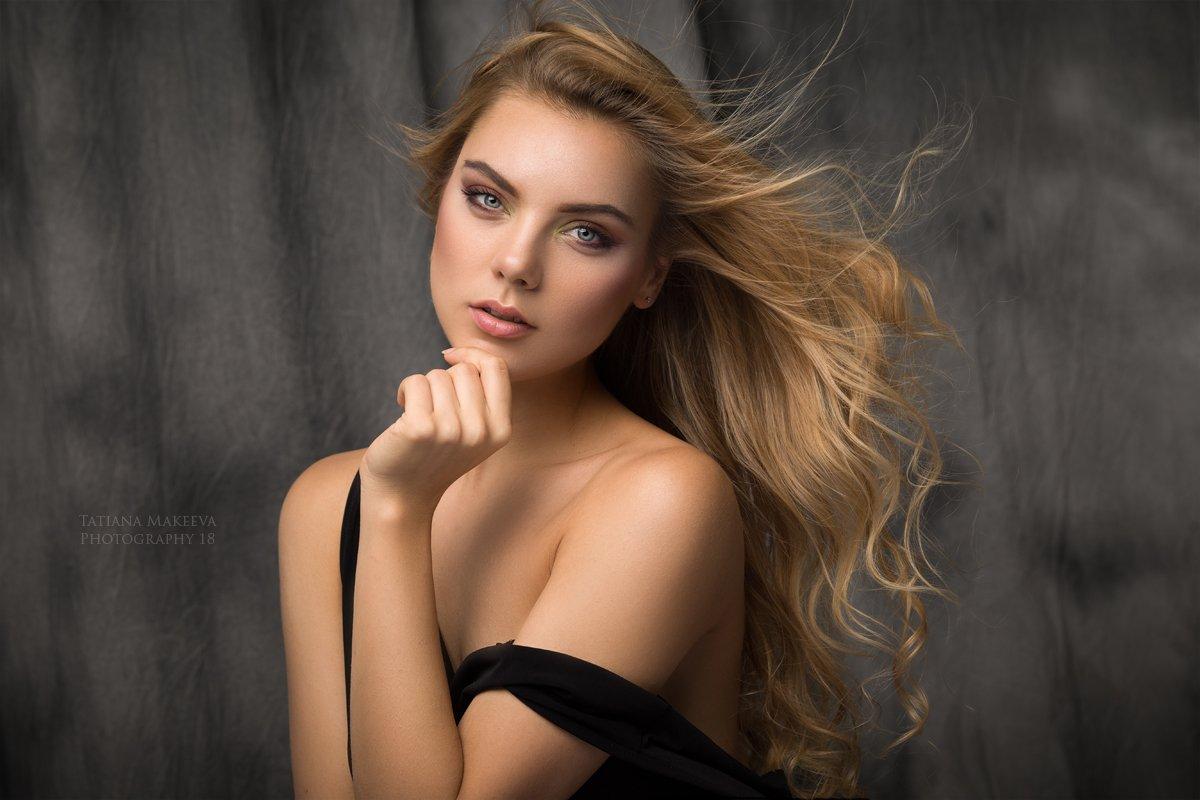 девушка, студия, классический портрет, блондинка, Татьяна