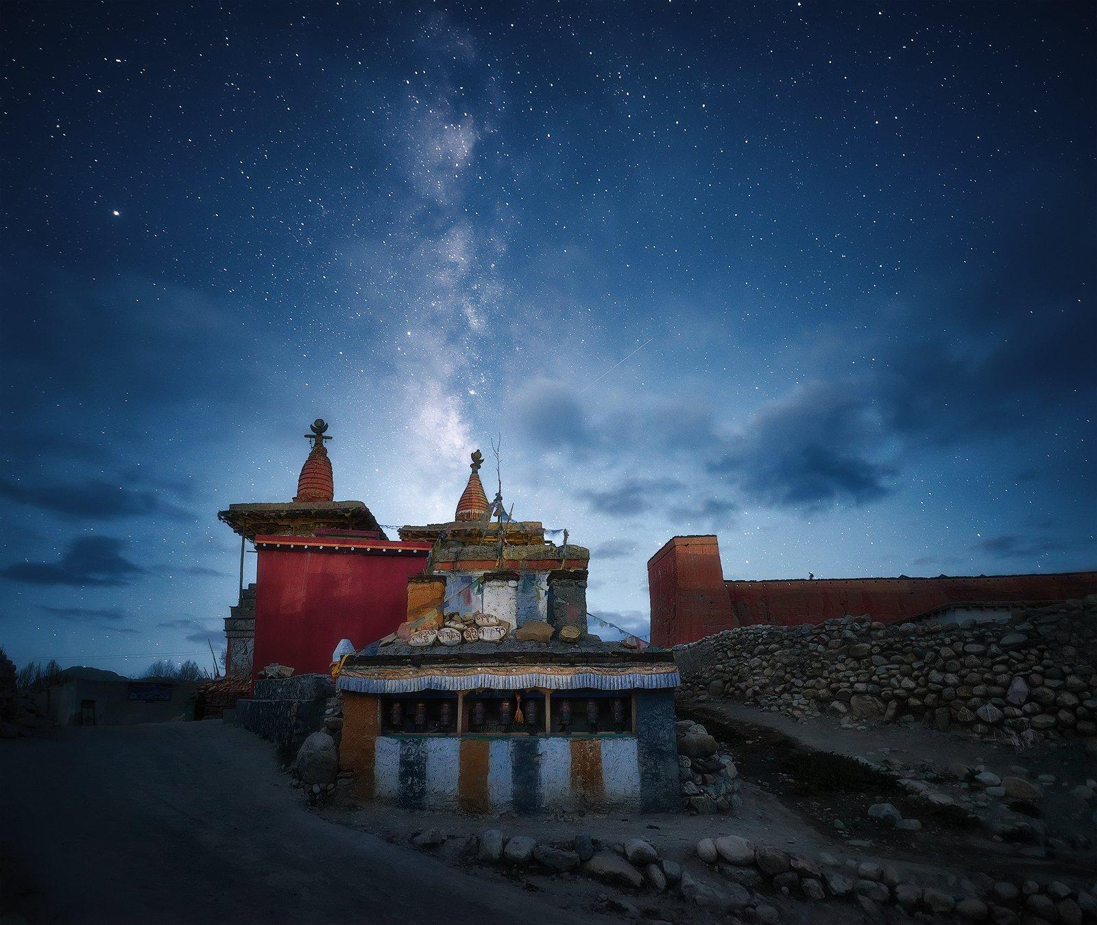 верхний мустанг, непал, nepal, upper mustang, landscape, mountains, milky way, nightsky, Soft Light