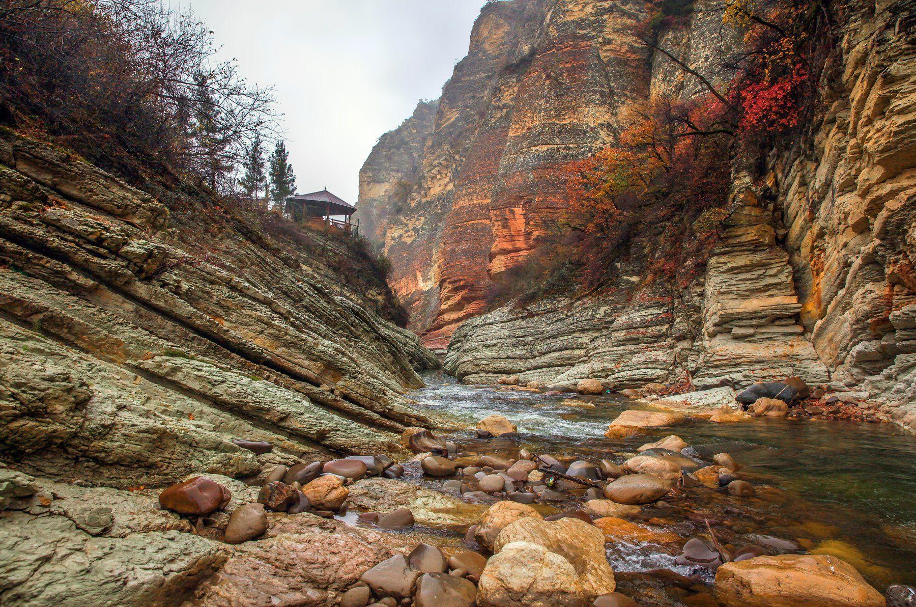 горы,река,осень,природа,дагестан., Марат Магов