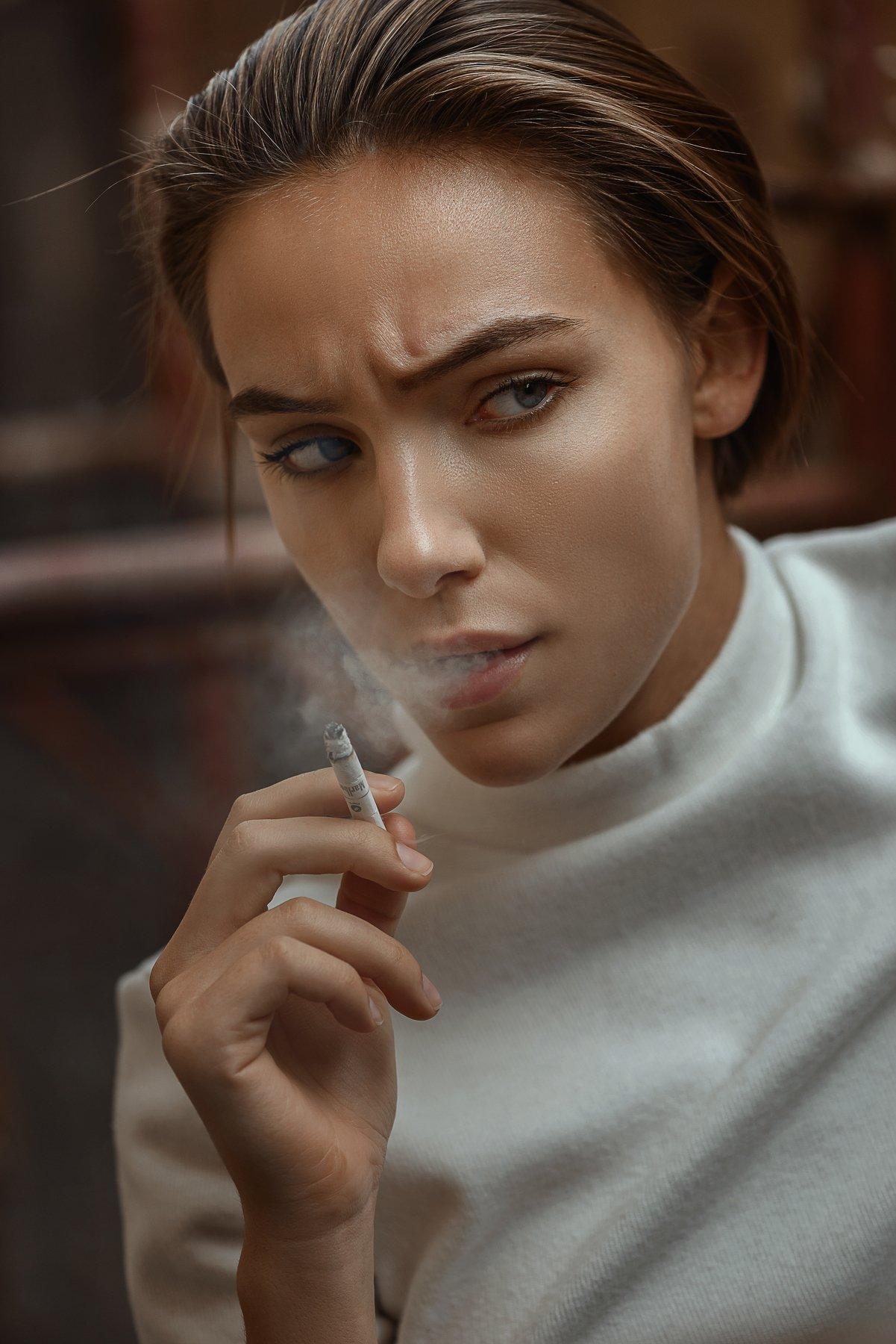 Портрет, взгляд, девушка, Цвет, Павел Соколов