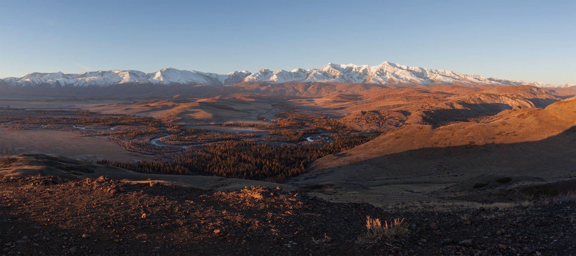 Горный Алтай, Курайская степь, Северо-Чуйский хребет, горы, Сергей