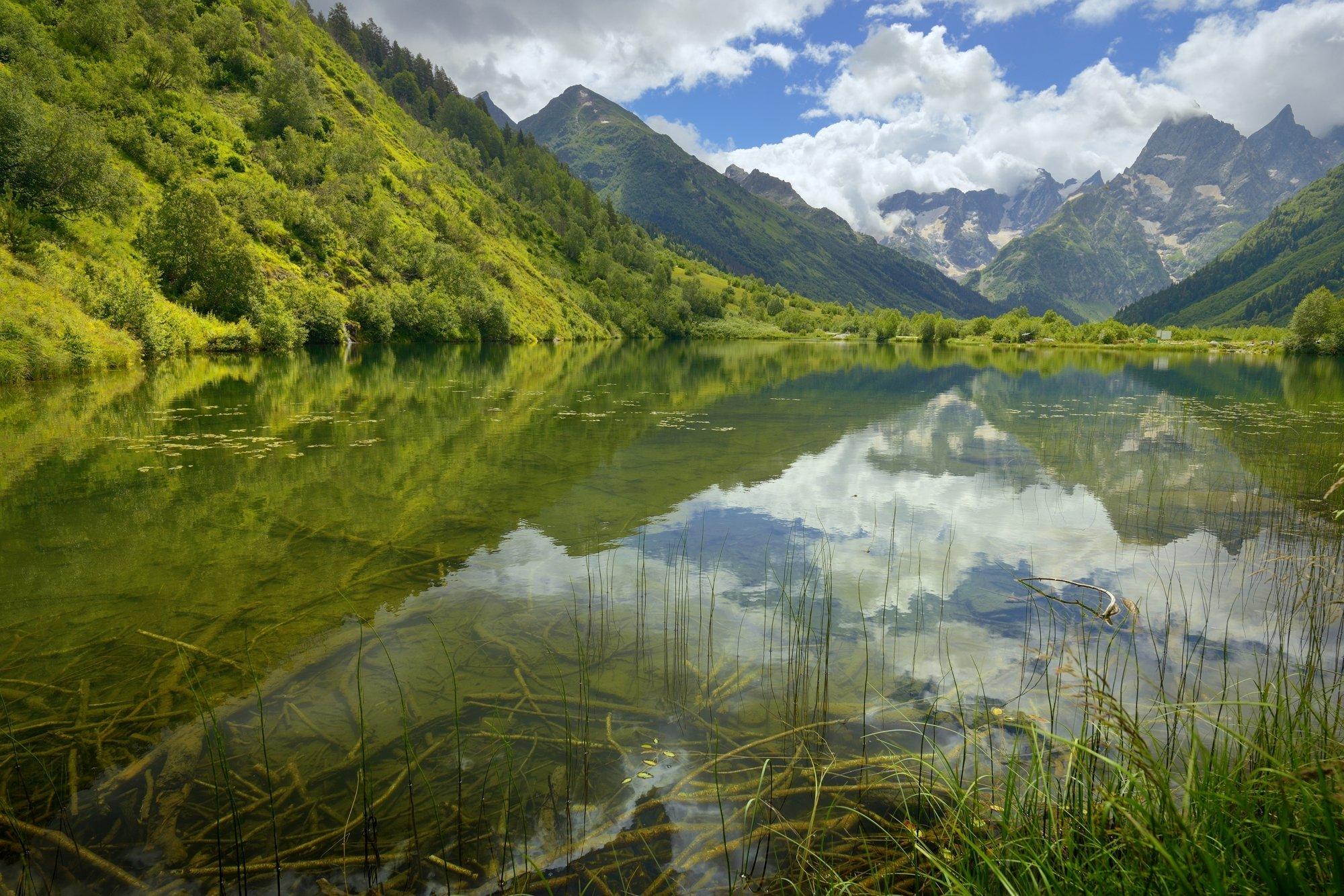 горы лето озеро утро гоначхир, Александр Жарников