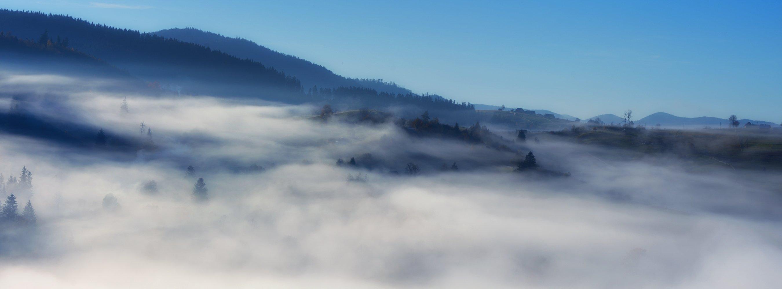 горы, осень, туман, Вьюшкин Игорь