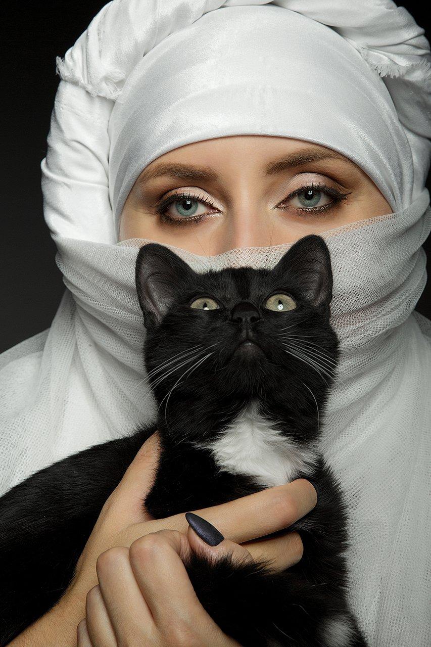 восточный образ, восток, чалма, головной убор, кот, глаза, красивые, котик, Комарова Дарья