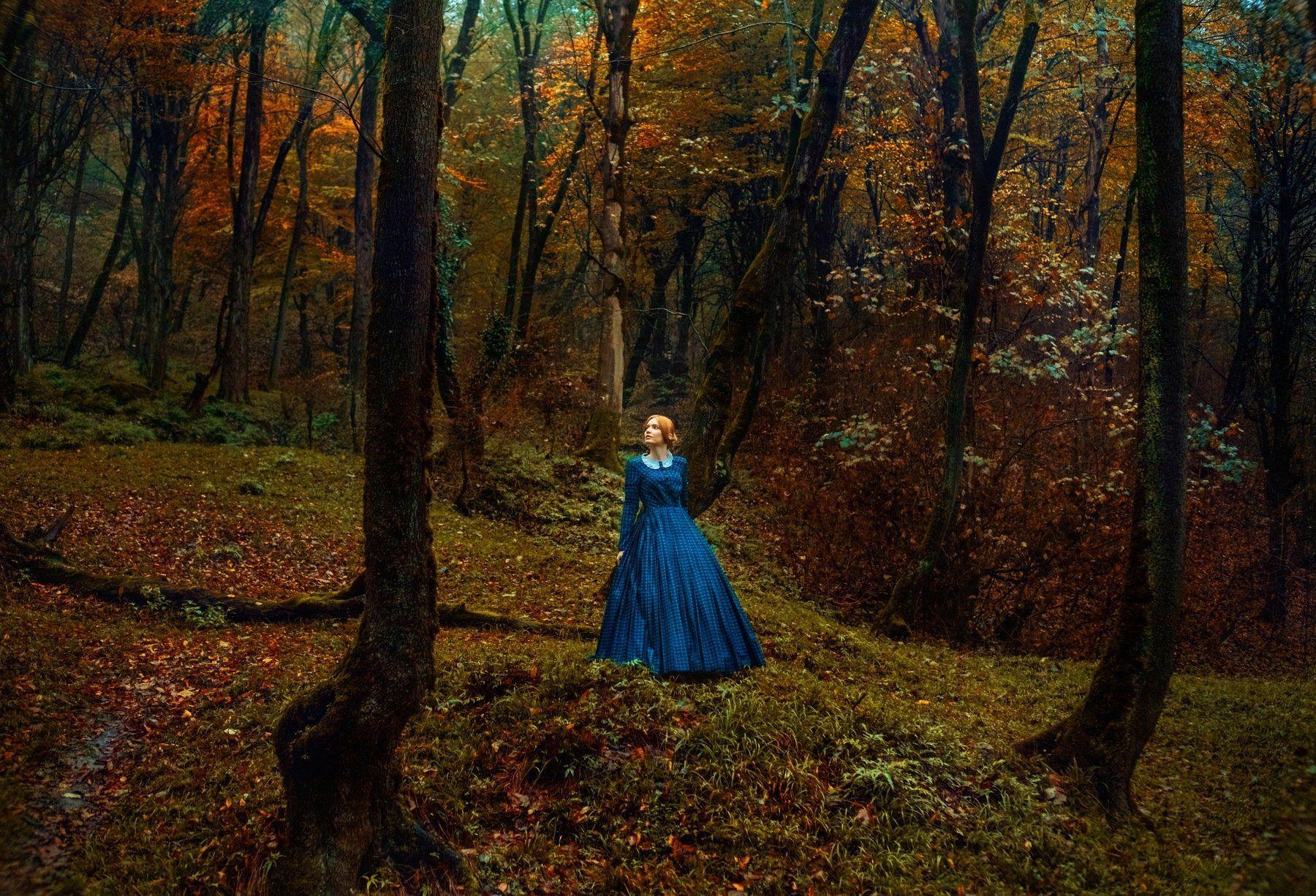 fine art model girl outdoor natural autumn color, Ali Arabzadeh