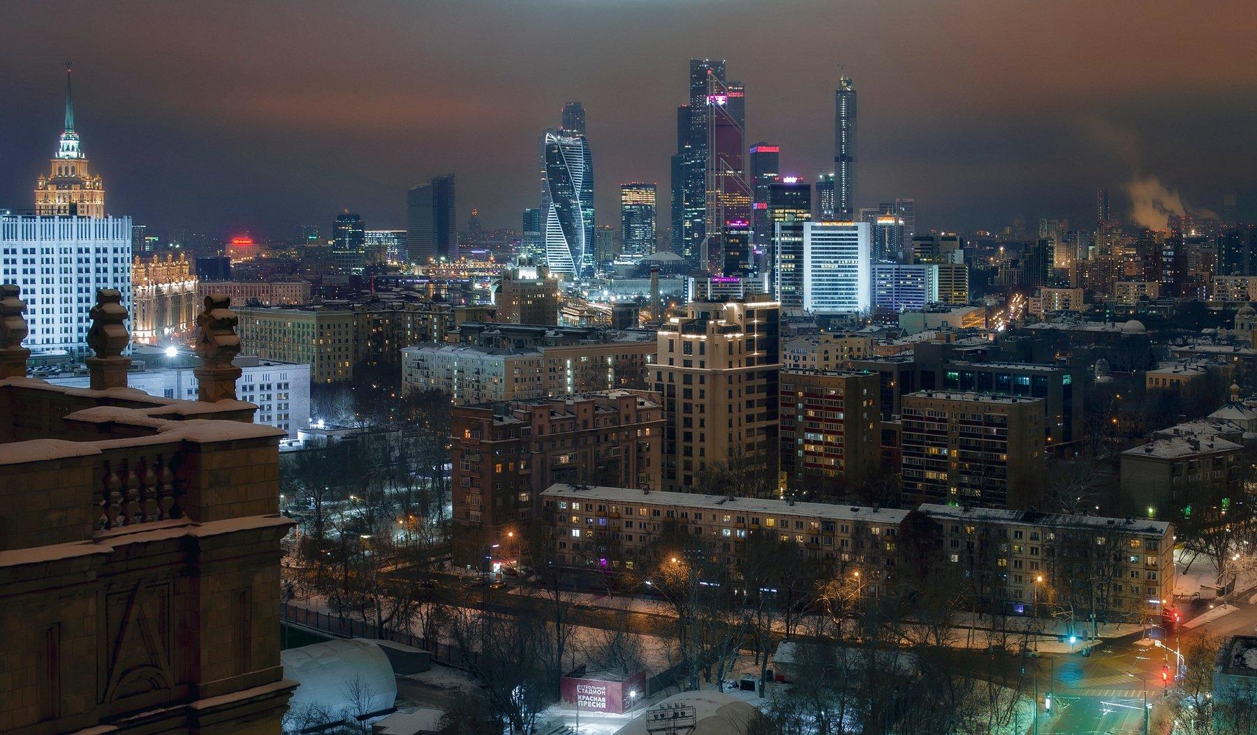 москва, город, архитектура, ночь, Алексей Ермаков