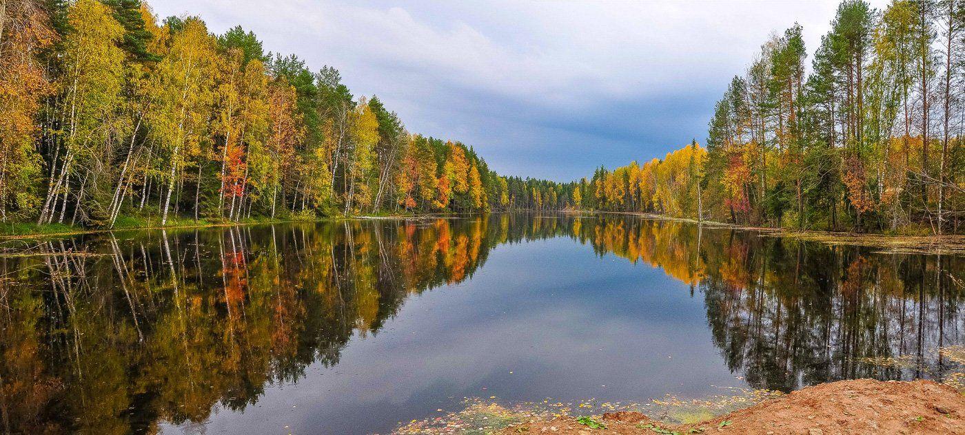 золотая осень,Удмуртия,пруд,отражение, АНДРЕЙ LOZHKIN