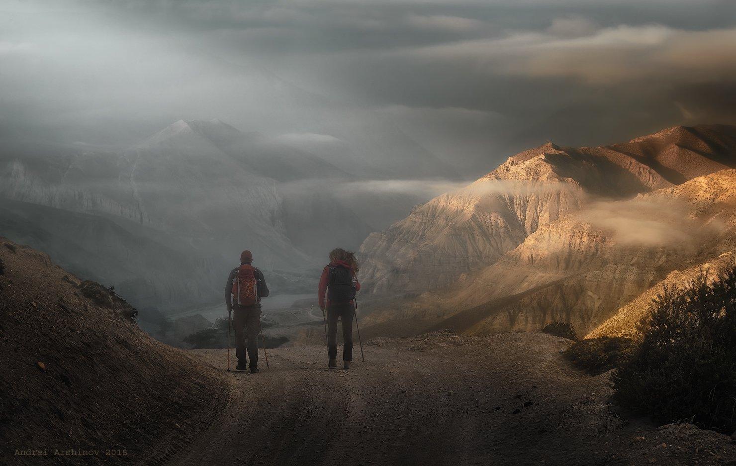 верхний мустанг, непал, nepal, upper mustang, landscape, mountains, Soft Light