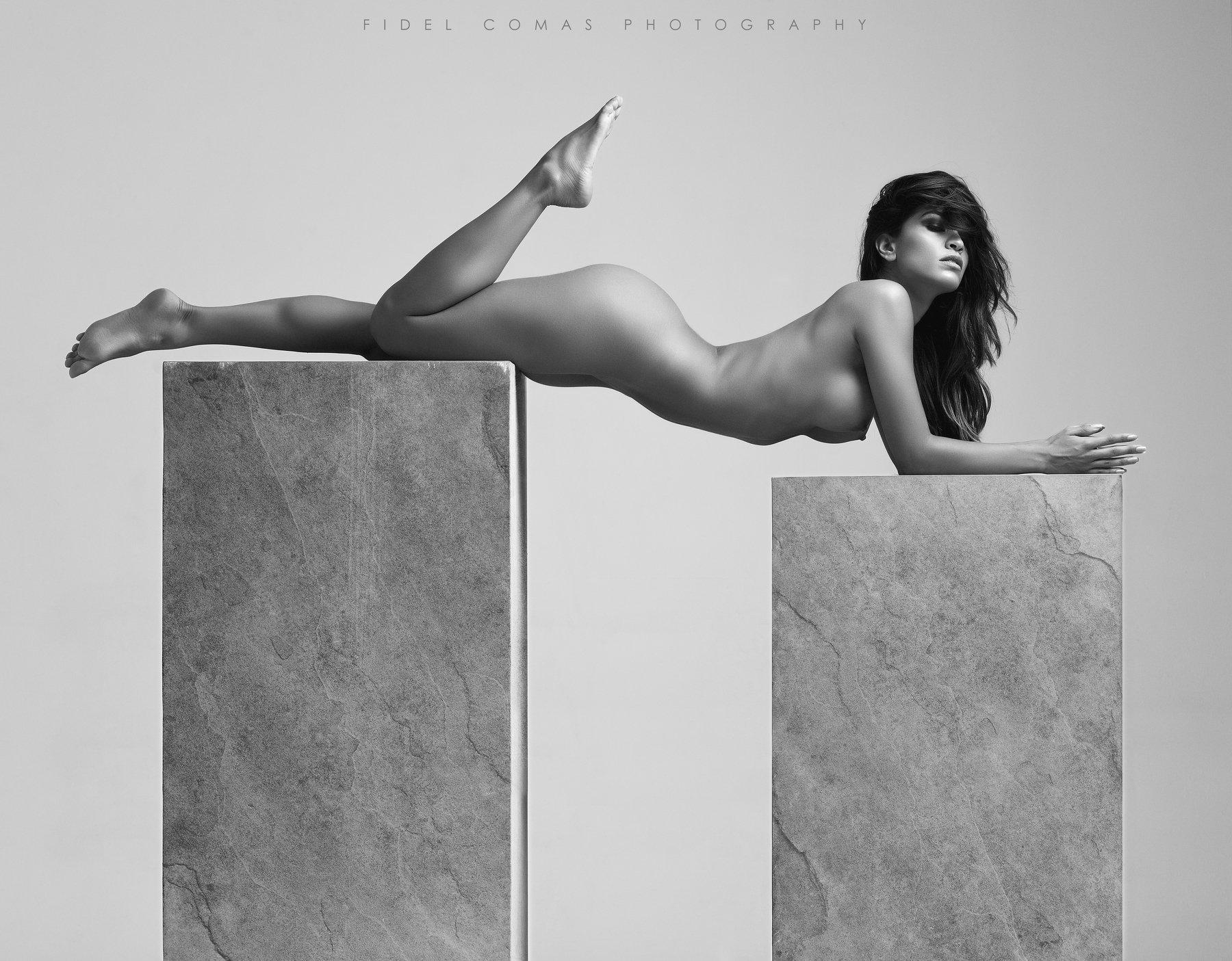 monochrome, studio, model, art, Fidel Comas