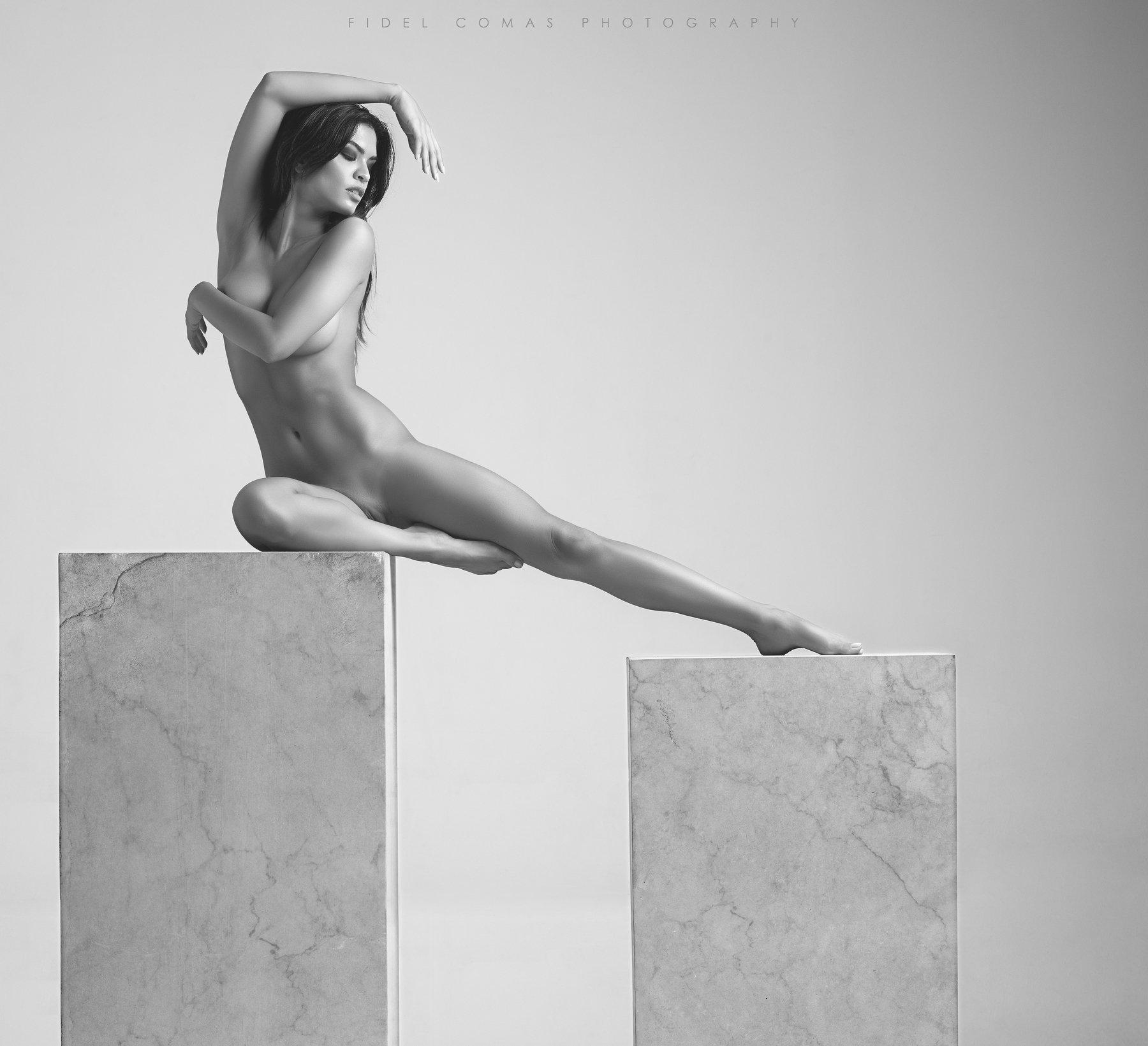 model, monochrome, art, studio, Fidel Comas