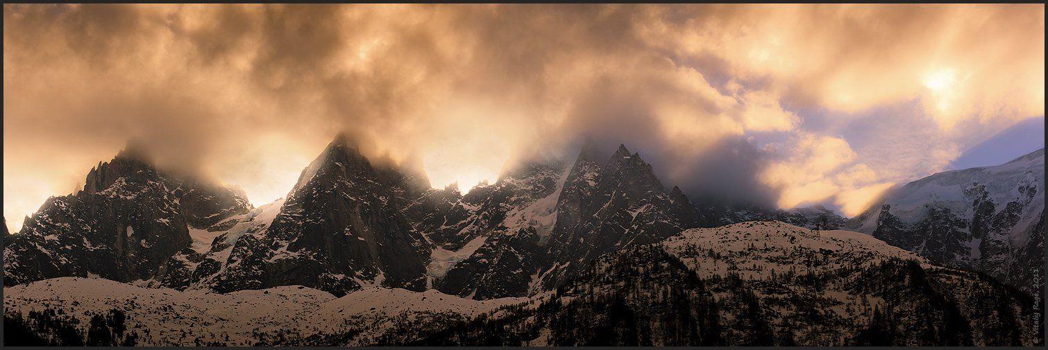 горы, франция, шамони, альпинизм, восход, Vitaliy Rage