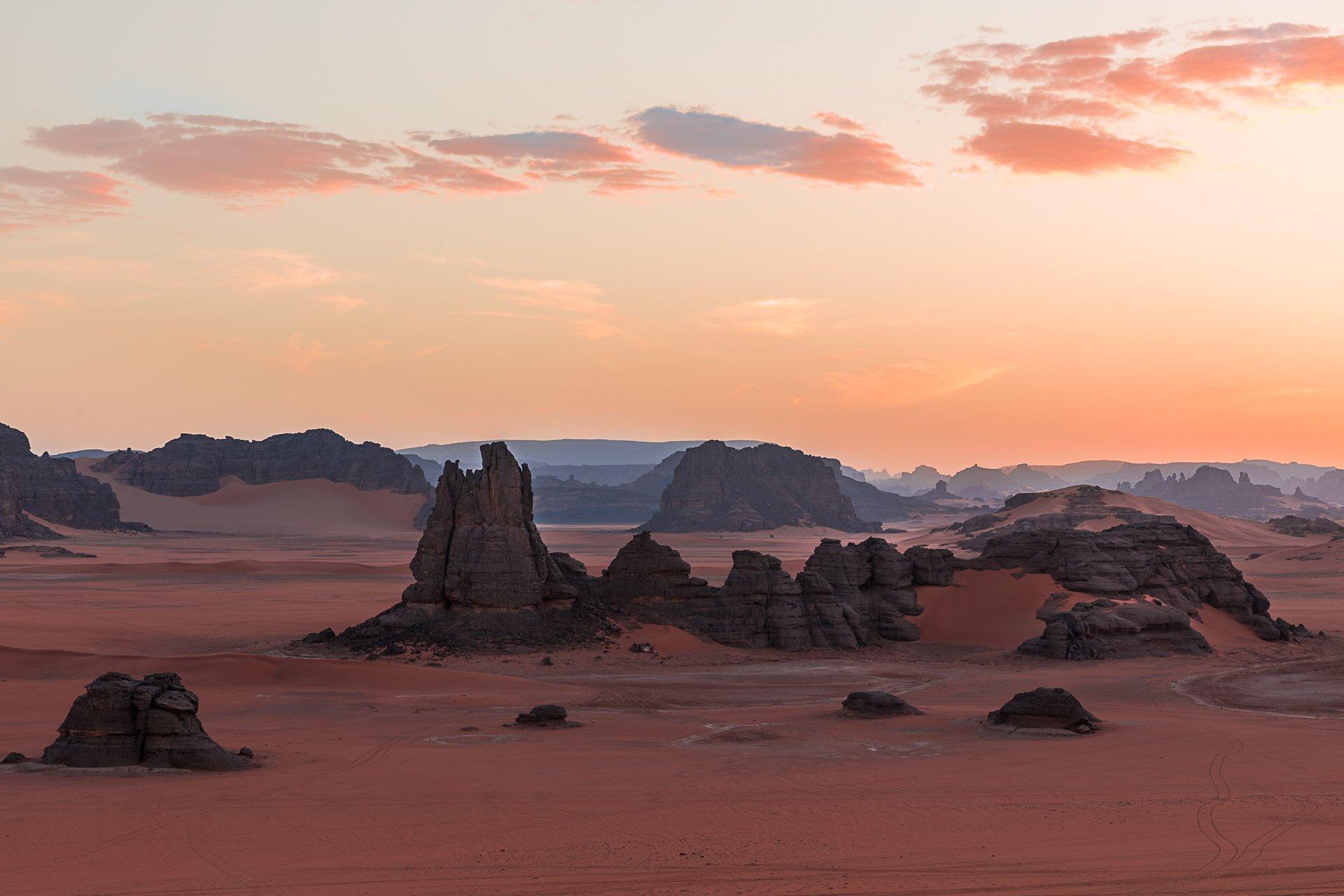 алжир, сахара, тадрарт, пустыня, песок, закат, Marina Malikova