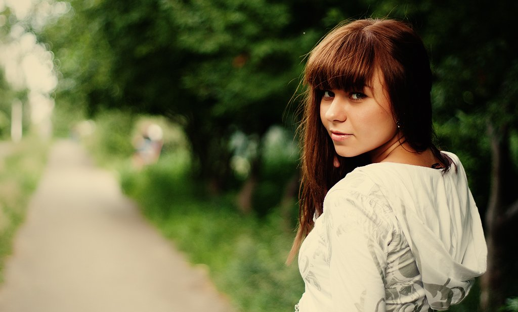 девушка, взгляд, лето, Дмитрий Душаков