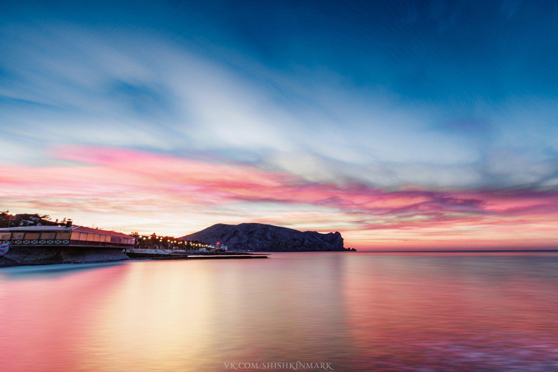 красота, природа, пейзаж, рассвет, закат, облака, небо, Крым, Шишкин Марк