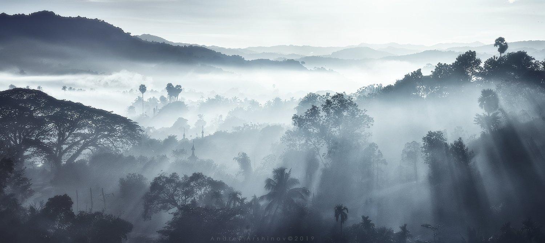 myanmar, burma, balloon, landscape, scenic,, Soft Light