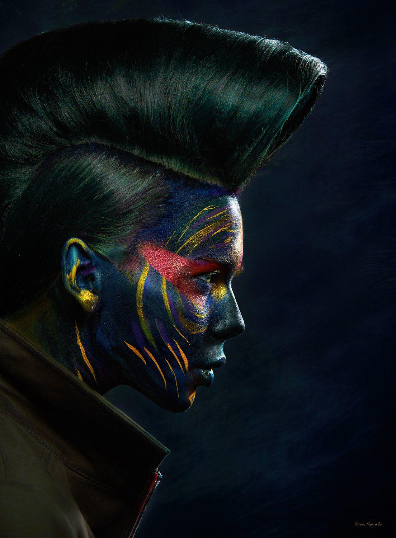 портрет, девушка, профиль, лицо, арт, макияж, космос, инопланетянин,, Ковалёв Иван