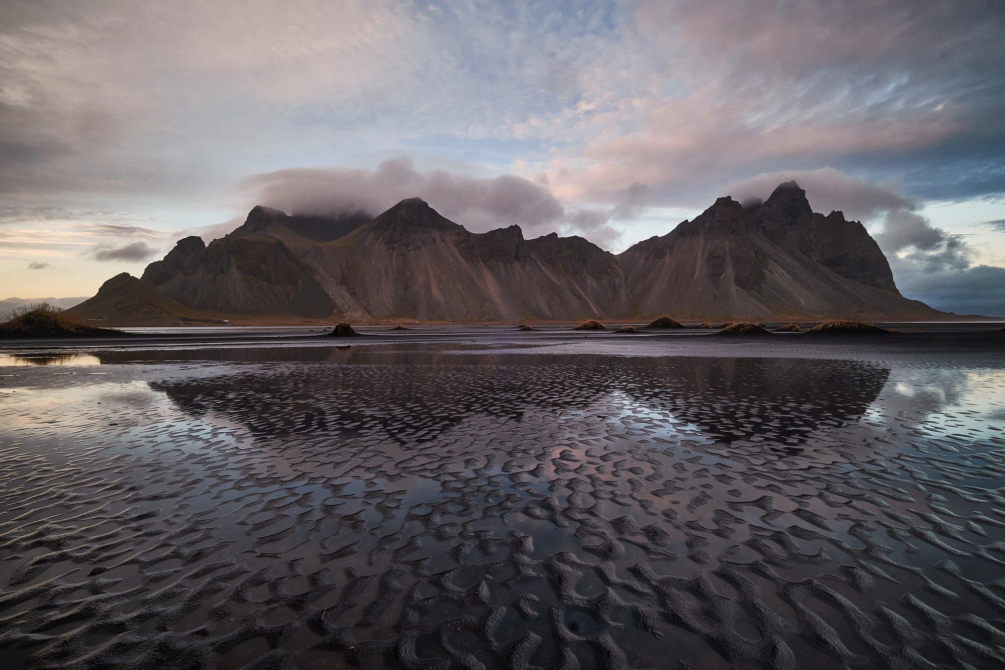 iceland,water,iceberg,ice,long,waves,coastal,cliffs,vestrahorn,mountains,stokksnes, Kobran