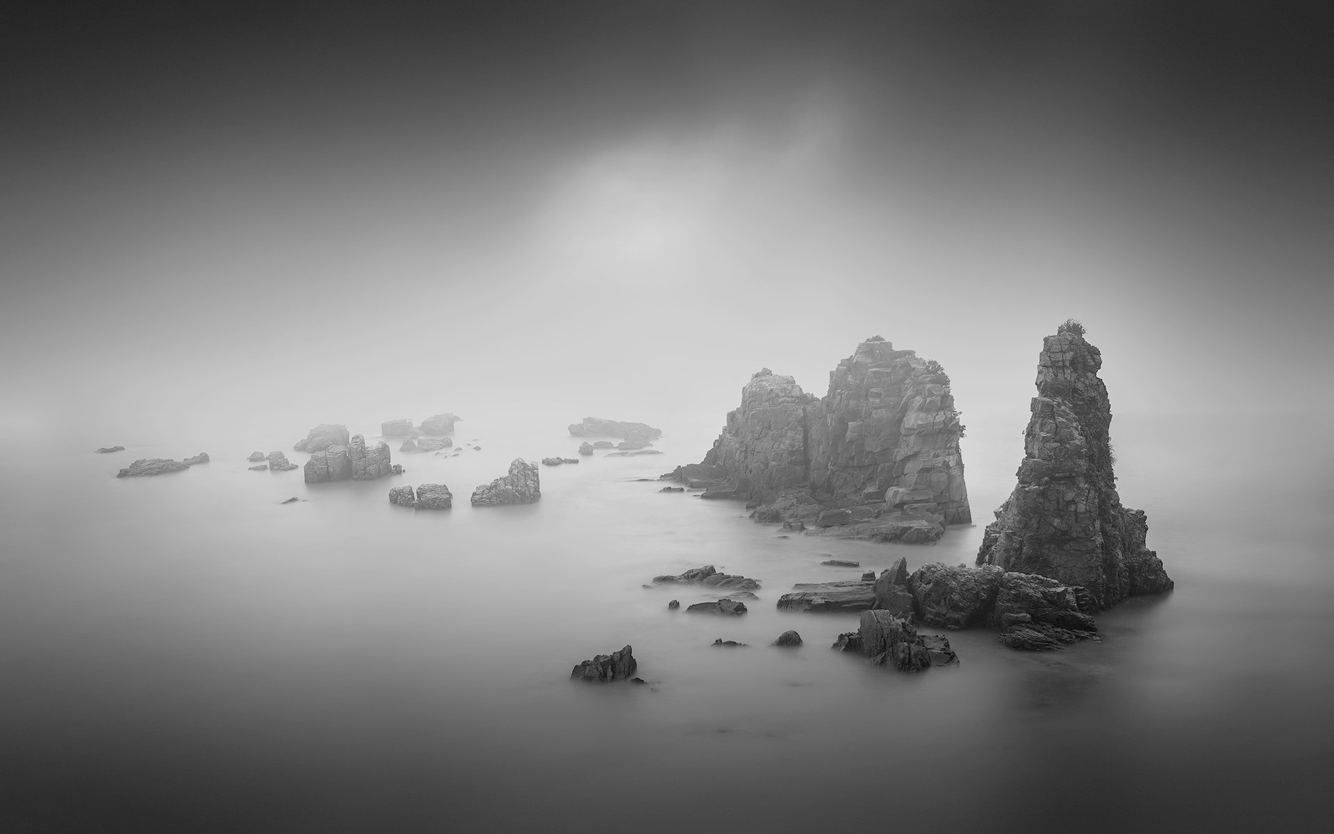 black & white,landscapes,reef,sea,travel,light and shadow,wenzhou,china,  Xiaolei Yang
