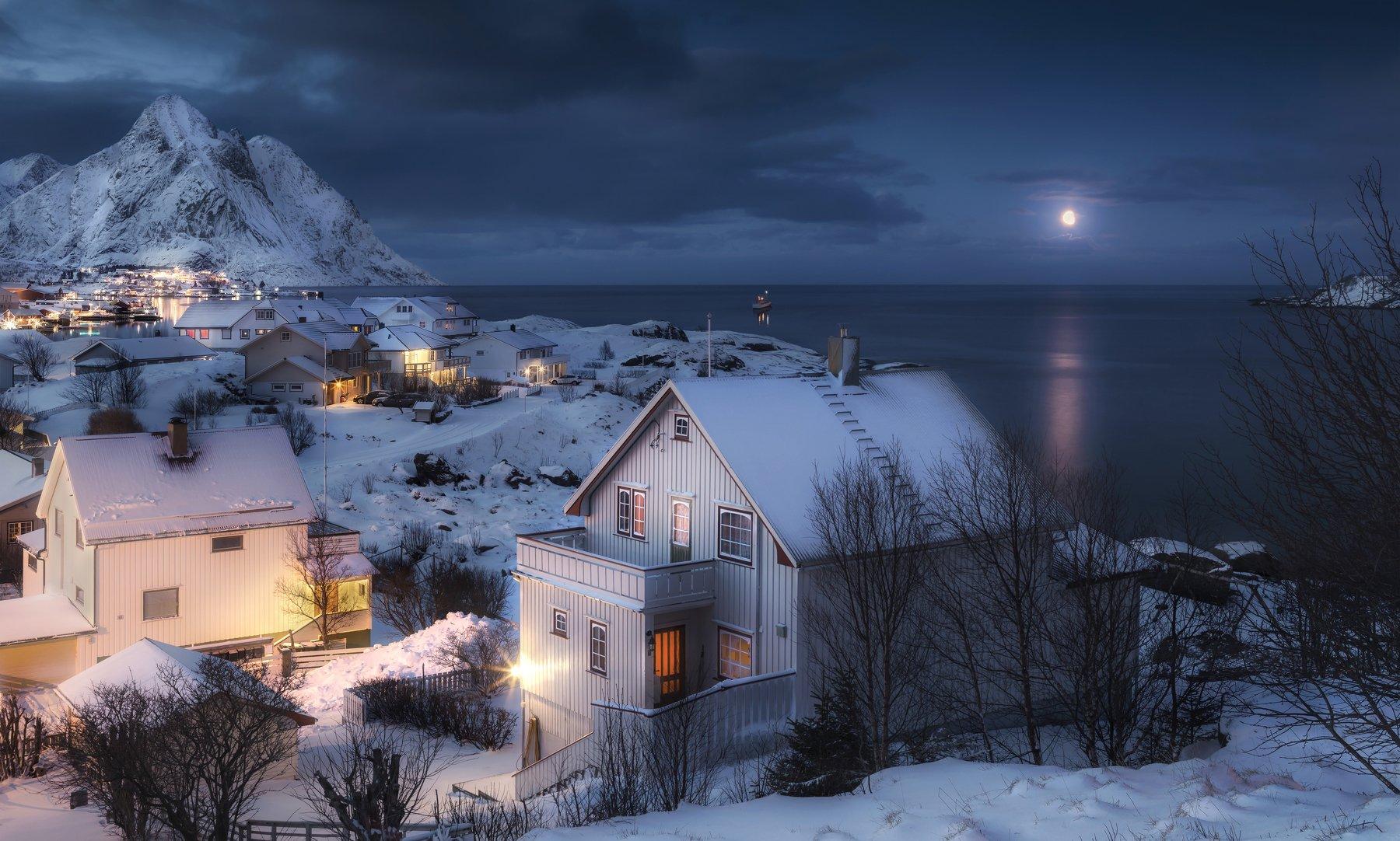 hamnoy , reine, lofoten islands, norway, morning, лофтены, норвегия, рейне, рассвет, Андрей Чабров