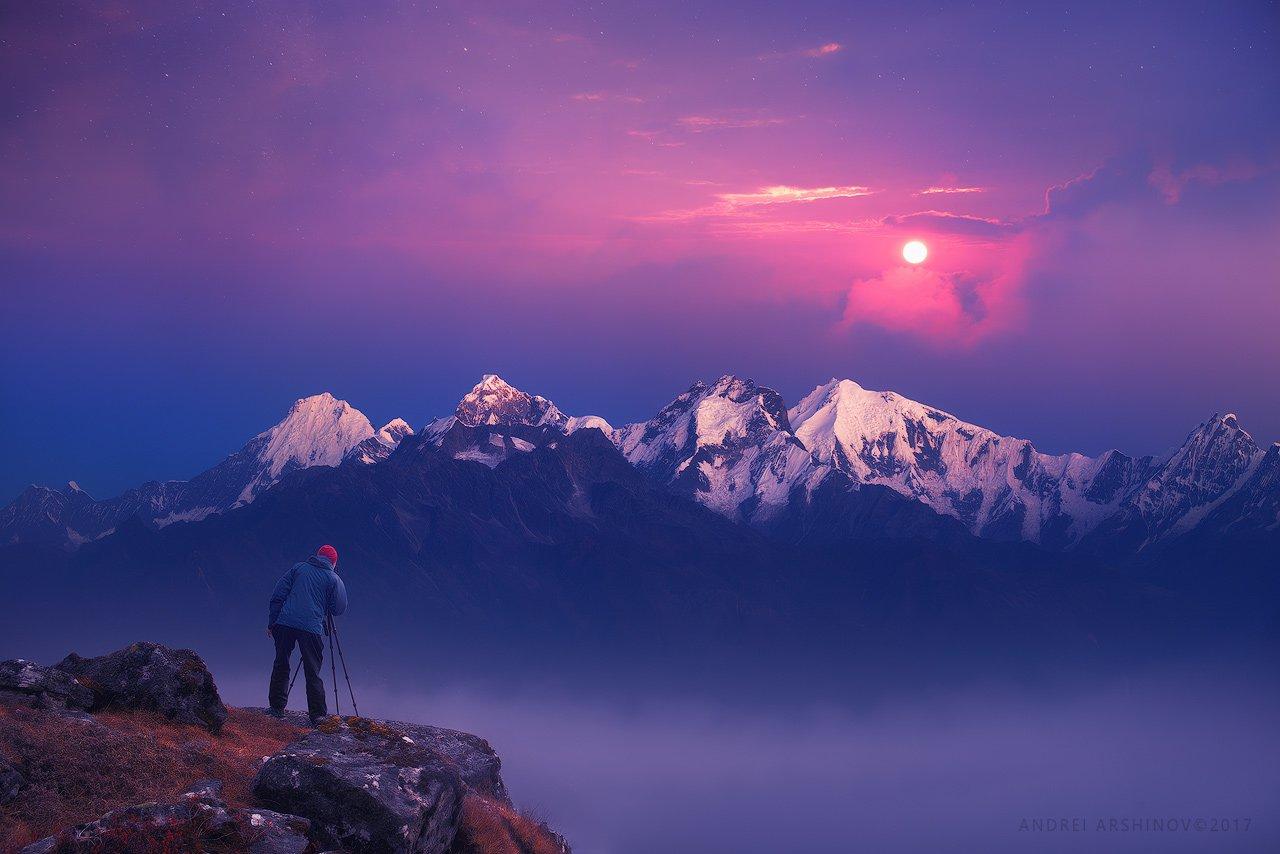 nepal, hymallaya, sunrise,, Soft Light