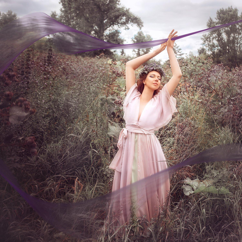 девушка, портрет, лето, фиолетовый, природа, girl, portrait, purple, summer, outdoor, nature, Семёхина Марина