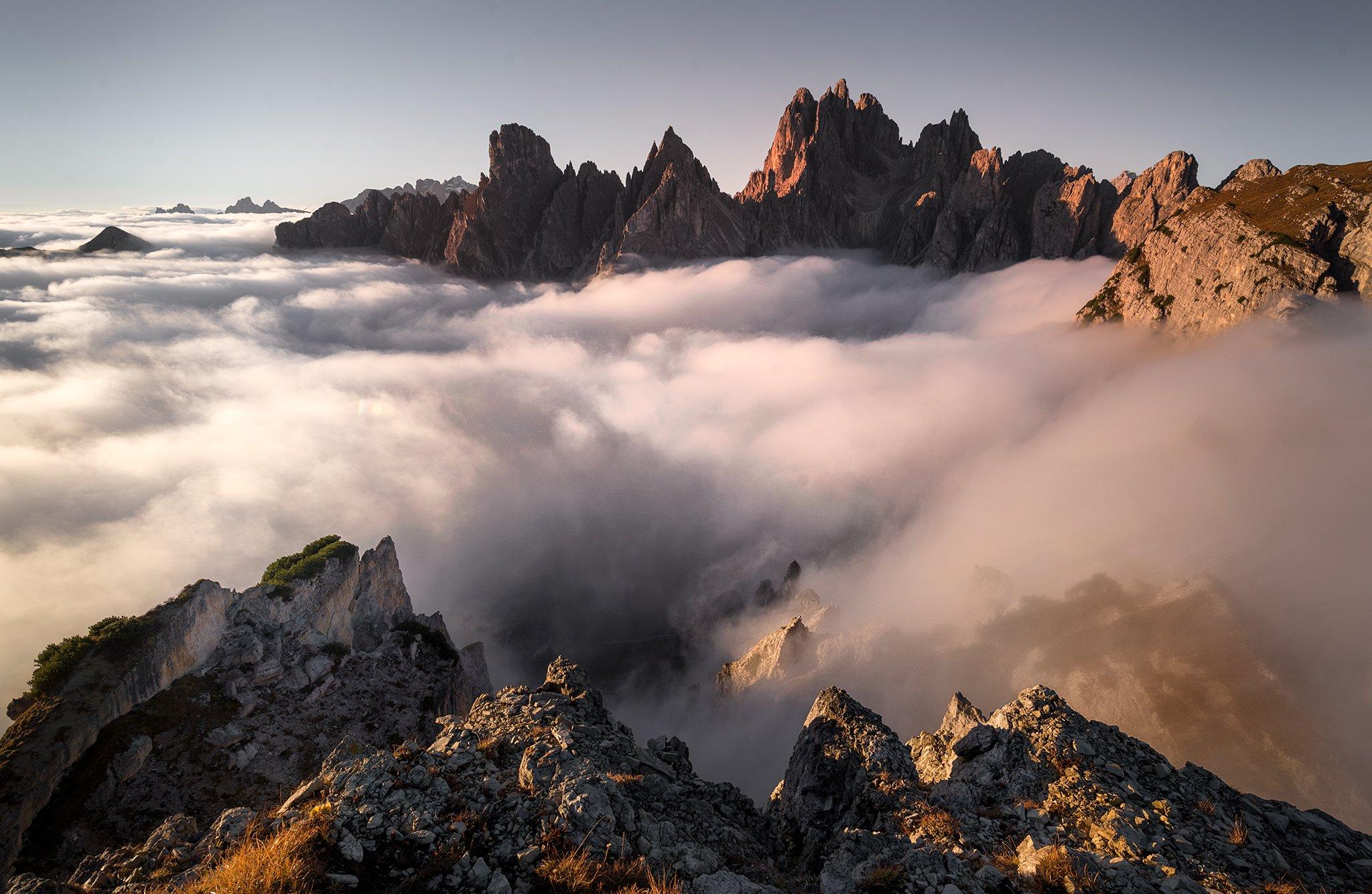 мъгла, Доломити, върхове, планини, Georgi Mitev
