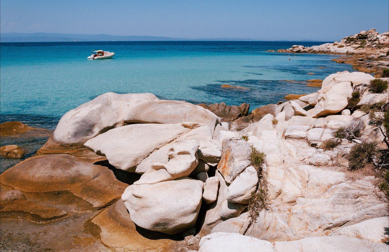 море пляж кариди лодка небо греция халкидики ситония, Андрей Кобыща