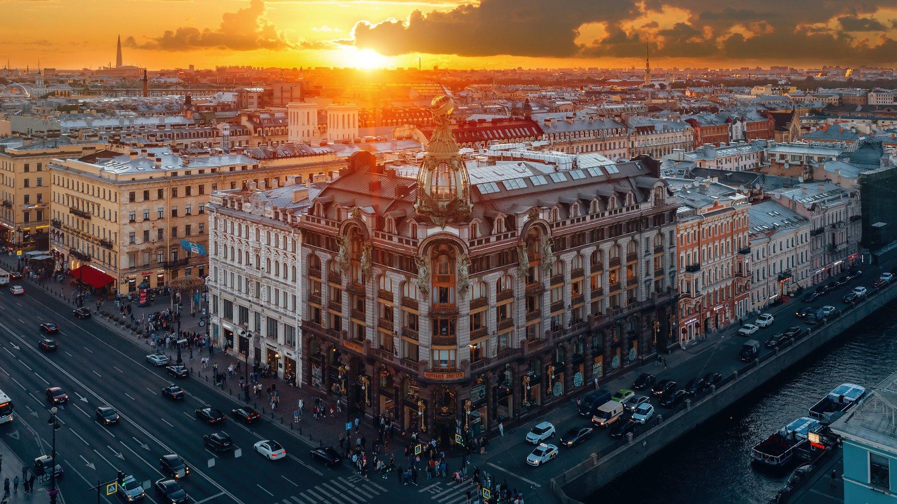 #спб, #питер, #город, #закат, #sunset, #city, Михайлов Андрей
