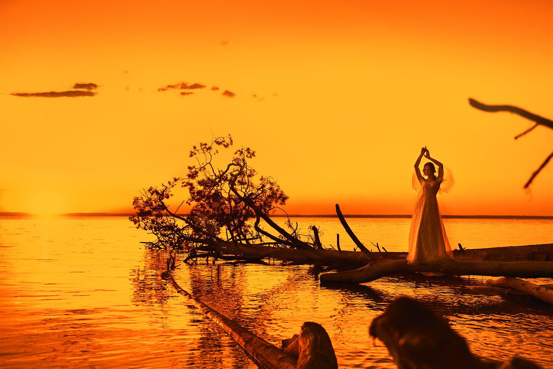 portrait, sunset, women, yellow, seaside, закат, портрет, девушка, желтый, побережье, Семёхина Марина