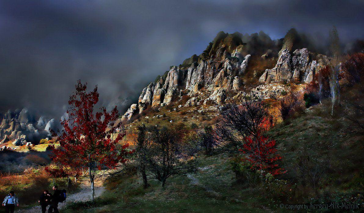 алушта, горы, демерджи, крым, скалы, чатыр-даг, долина-привидений, Serg-N- Melnik-oy