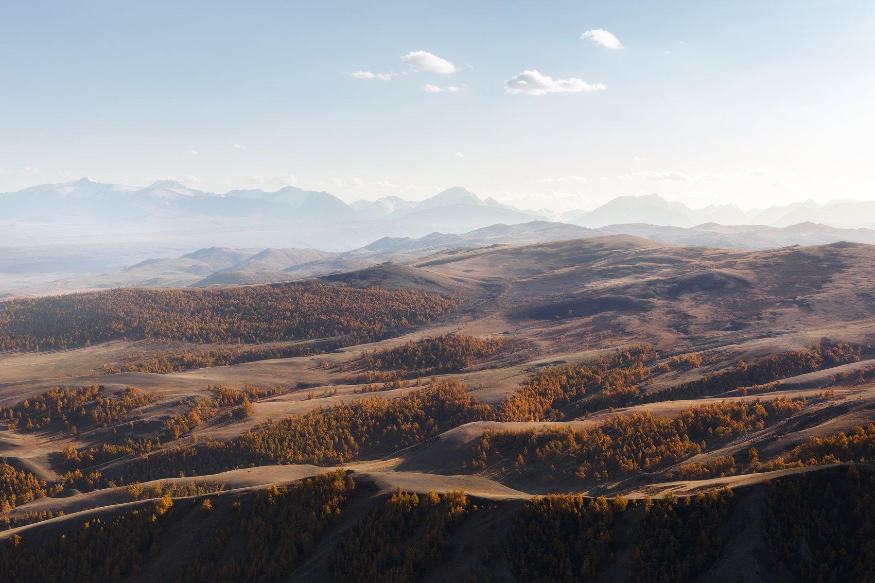 природа, пейзаж, закат, алтай, горы, осень, Попов Станислав