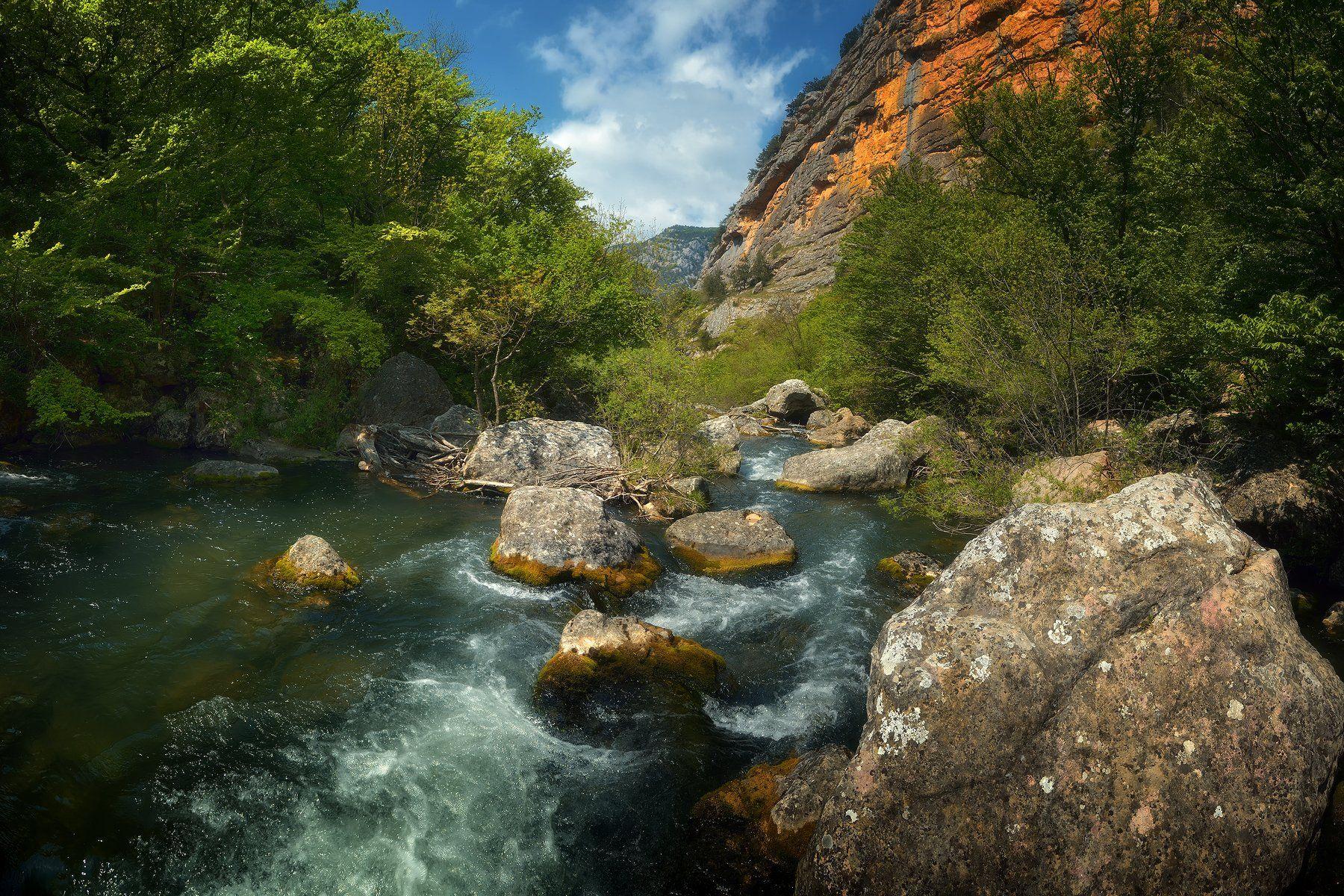 крым, природа, весна, горы, река, Никонов Алексей