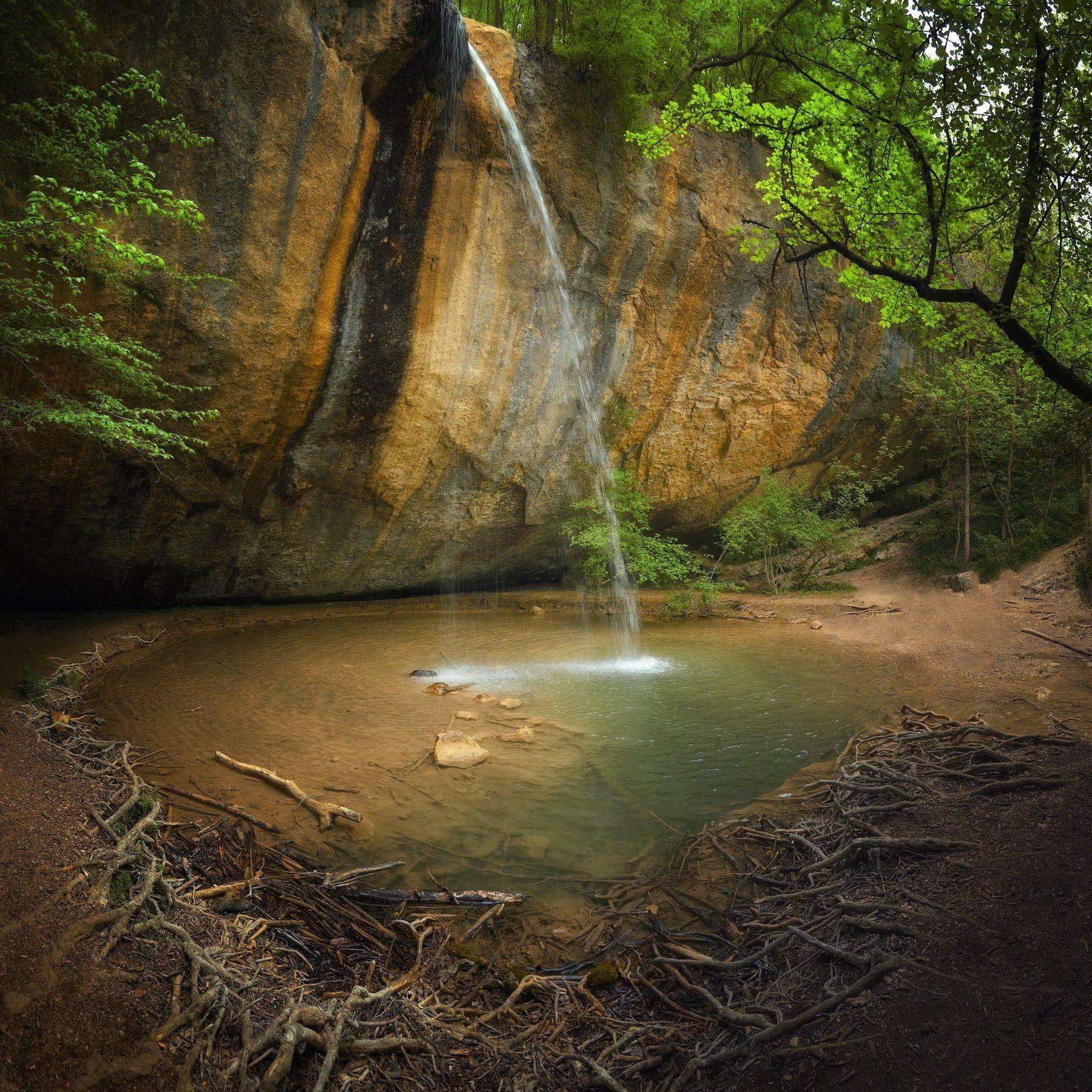 крым, природа, весна, горы, водопад, Никонов Алексей