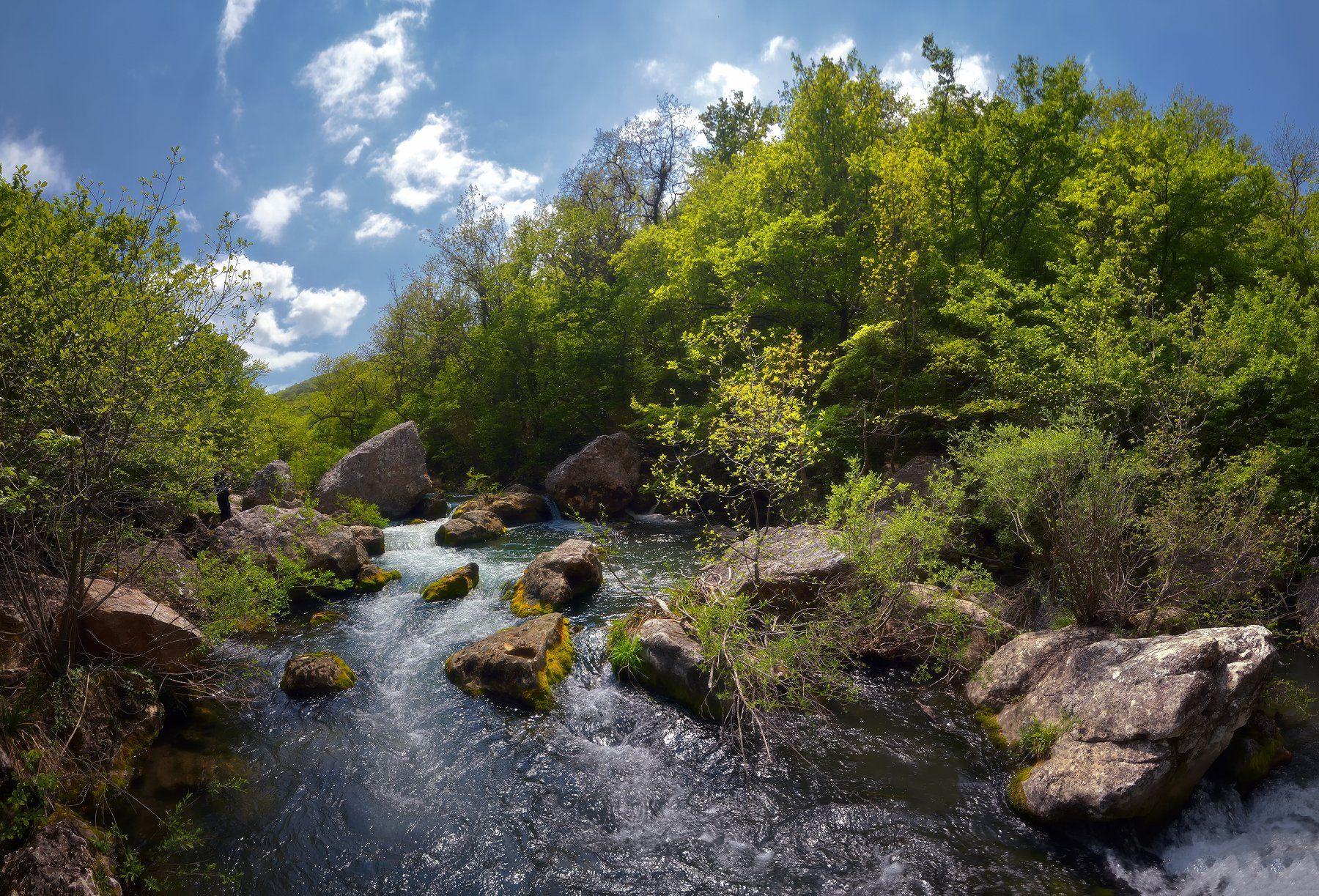 крым, природа, весна, река, Никонов Алексей